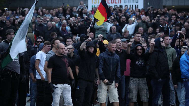 Around 4,500 far-right supporters marched