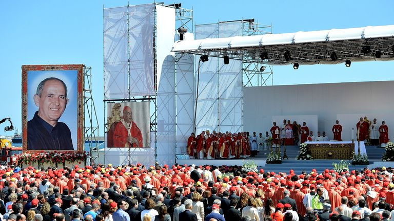 Father Giuseppe 'Pino' Puglisi was beatified in a ceremony in 2013