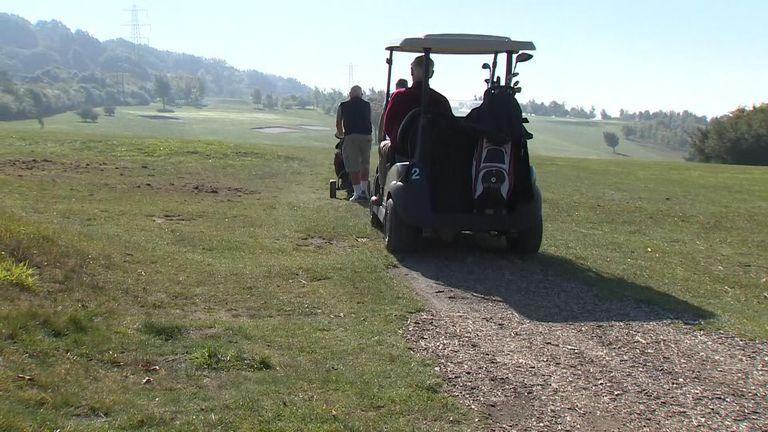 Sky News' Lisa Holland visited Hampshire Golf Course