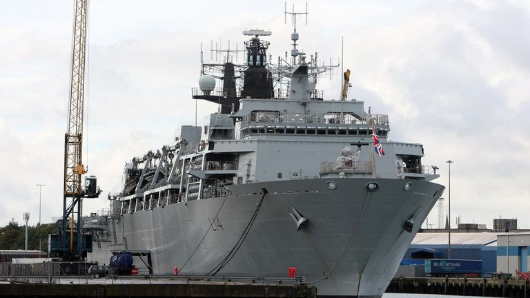 Senior veterans were campaigning to protect HMS Albion (pictured) and HMS Bulwark