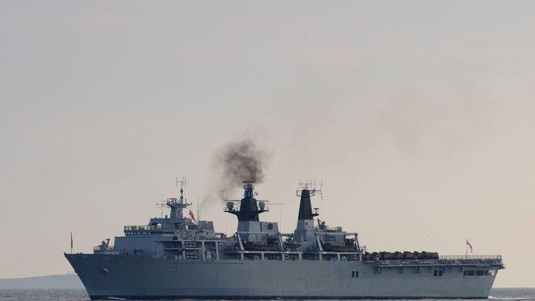HMS Bulwark (pictured) was also feared to be at risk of being scrapped or sold