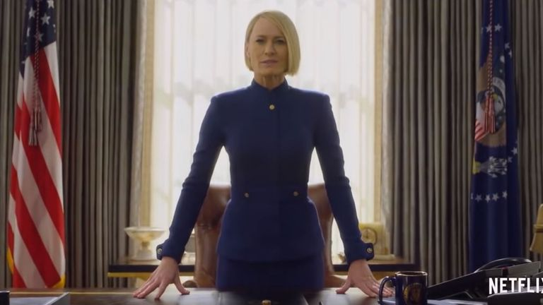 Robin Wright plays Claire Underwood