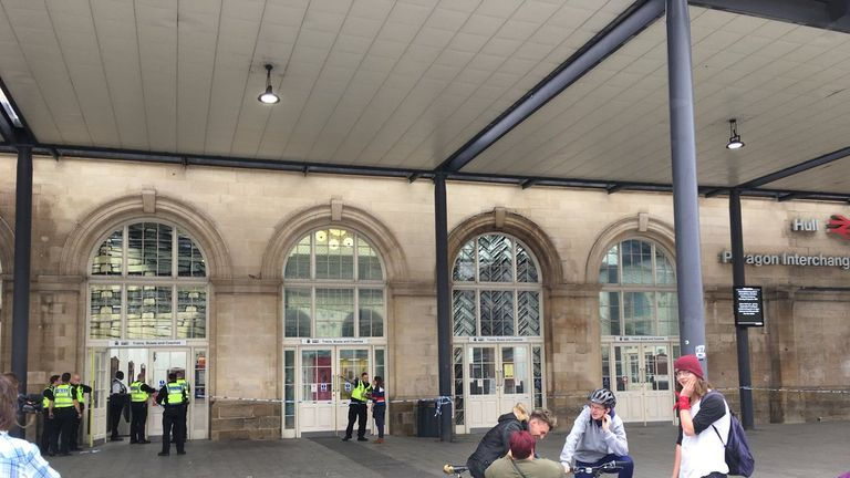 Hull's Paragon Interchange was closed during the incident. Pic: Viking FM