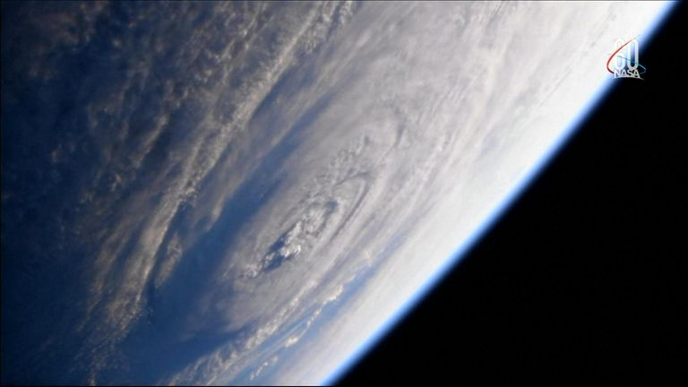 Dramatic images of Hurricane Florence as seen from space