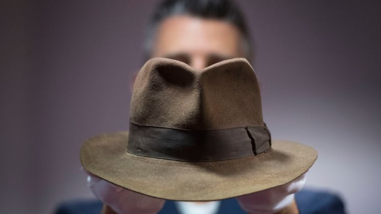 Indiana Jones' Fedora hat, worn by Harrison Ford in Indiana Jones and the Raiders of the Lost Ark (1981)