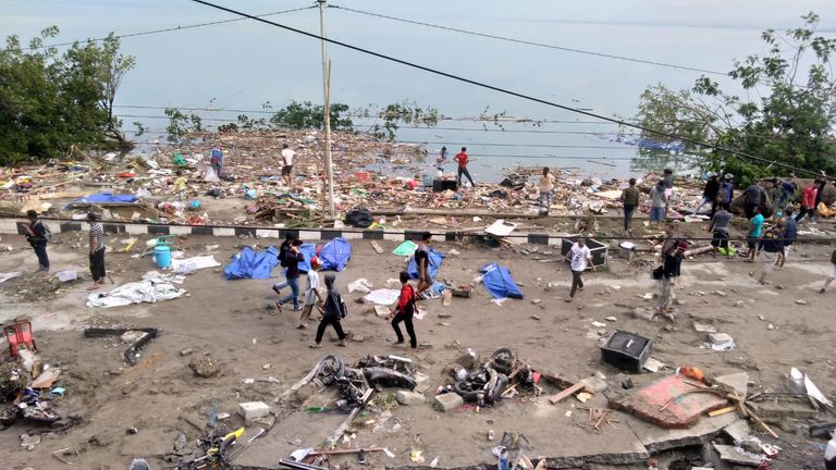 An earthquake and a tsunami hit Palu on Sulawesi island