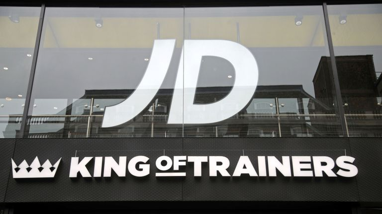 A branch of JD Sports on Oxford Street, central London