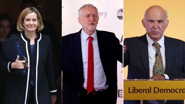 Amber Rudd, Jeremy Corbyn and Vince Cable are among a host of politicians to back the Sky News campaign