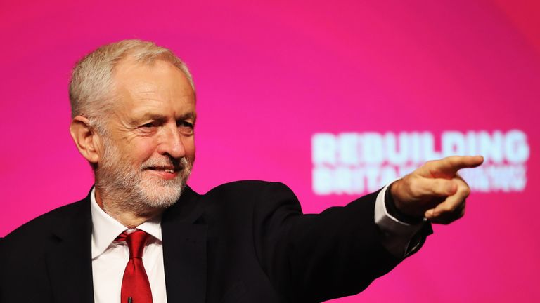 Jeremy Corbyn addresses delegates on day four of the Labour Party conference