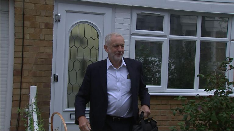 Jeremy Corbyn doorstepped on 05/09
