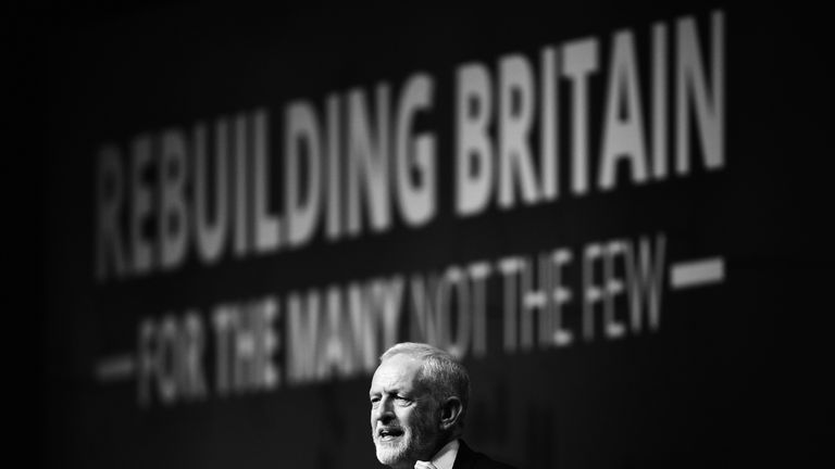 Jeremy Corbyn received no fewer than 10 standing ovations during and at the end of his speech