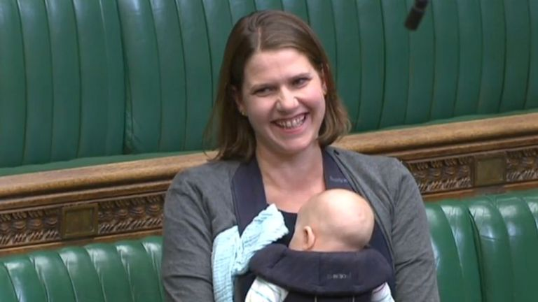 Liberal Democrat MP Jo Swinson made history by taking a baby into an active Commons debate