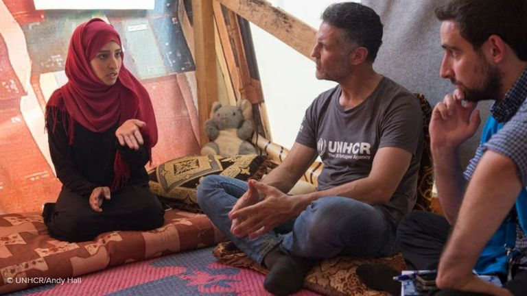 Khaled Hosseini visited Lebanon in June 2018. Pic: UNHCR/Andy Hall