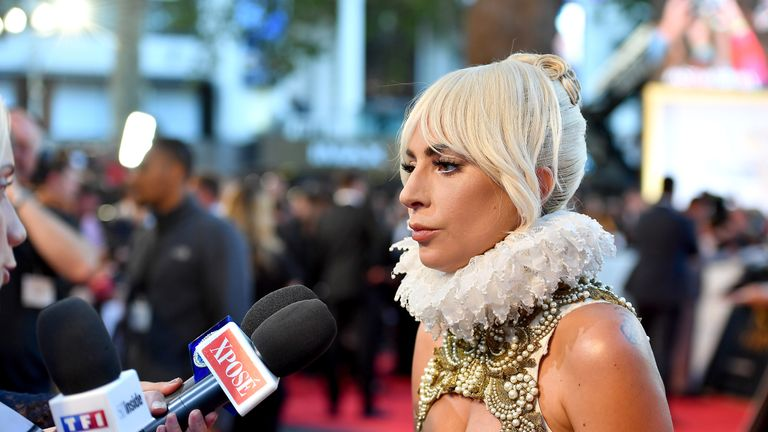 Lady Gaga at the premiere of A Star Is Born