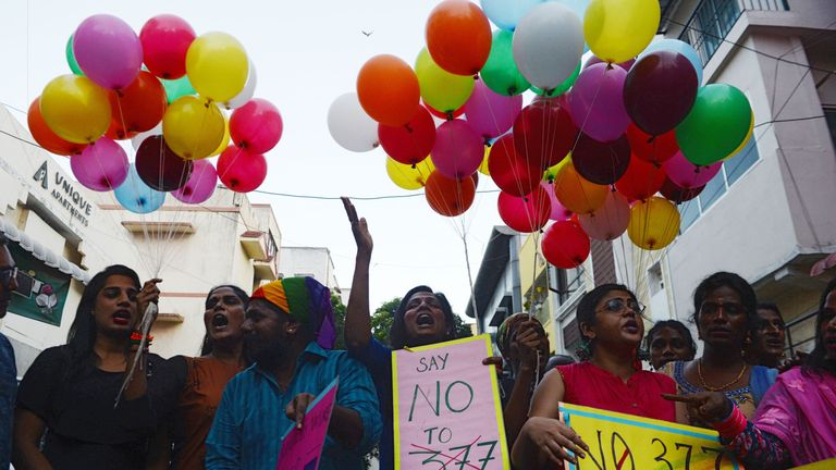 Members of the LGBT community want section 377 of the Indian penal code changed