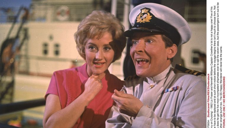Fraser with Kenneth Williams in 1962's Carry On Cruising