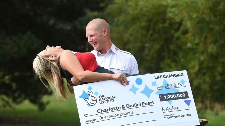 Mr Peart did not believe they had won as a few weeks previously his wife had tricked him by claiming they had won £250,000