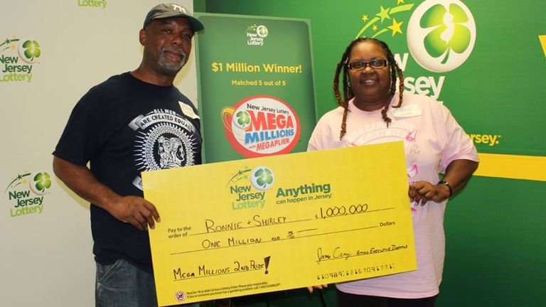 Ronnie Martin of Long Pond, Pennsylvania, won the lottery using numbers from a fortune cookie years ago. Pic: New Jersey Lottery
