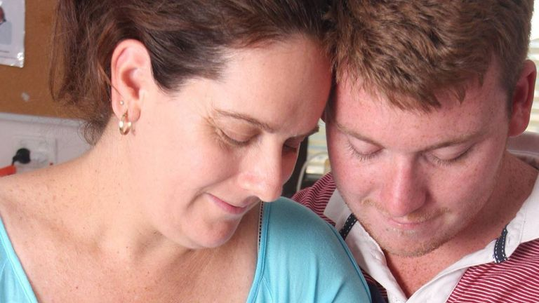 Anthony Harvey allegedly killed his wife Mara (pictured), their three children and her mother