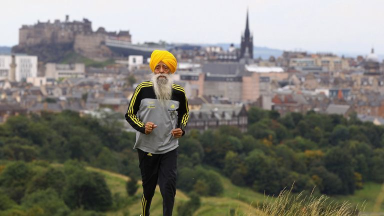 Fauja Singh, 107, is believed to be the world's oldest marathon runner