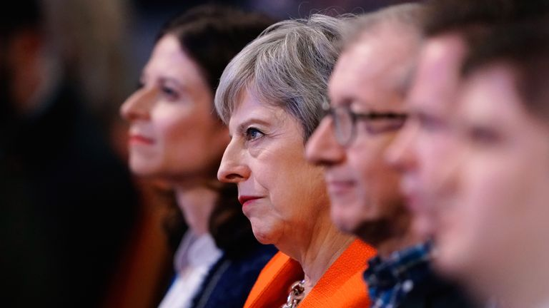 Theresa May during the annual Conservative Party Conference on September 30, 2018 in Birmingham, England. The Conservative Party Conference 2018 is taking place at Birmingham's International Convention Centre (ICC) from September 30 to October 3.