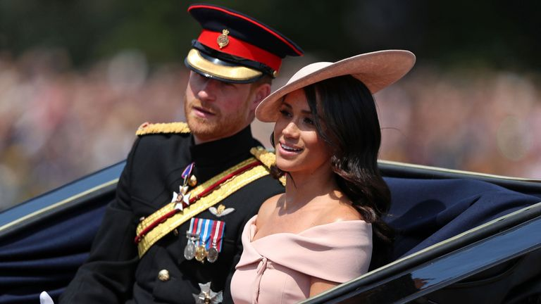 The duchess's ice-pink off-the-shoulder Carolina Herrera dress was popular