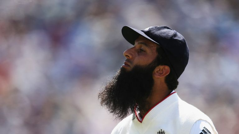 CARDIFF, WALES - JULY 09: Moeen Ali of England looks on during day two of the 1st Investec Ashes Test match between England and Australia at SWALEC Stadium on July 9, 2015 in Cardiff, United Kingdom. (Photo by Ryan Pierse/Getty Images)