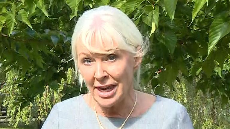 Nadine Dorries talking on Sky News about Boris Johnson,