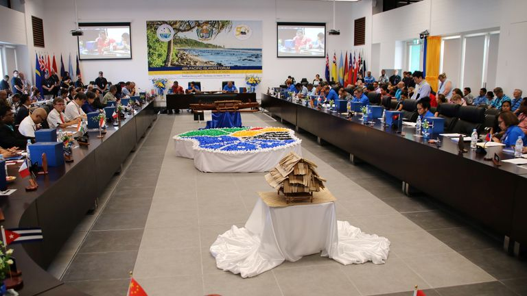 Leaders from the Pacific islands gathered in Nauru on Tuesday