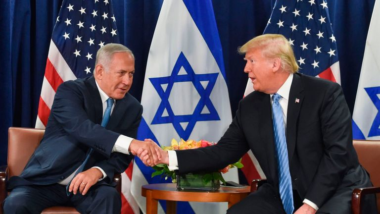 Mr Trump met Israeli prime minister Benjamin Netanyahu on the sidelines of the UN General Assembly