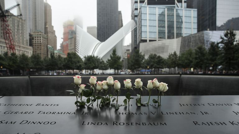 Hundreds  remembered the victims at the twin towers by reading the names of every person who died in the attack