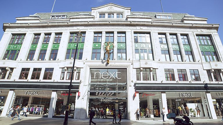 Next's flagship store on London's Oxford Street. Pic: Next