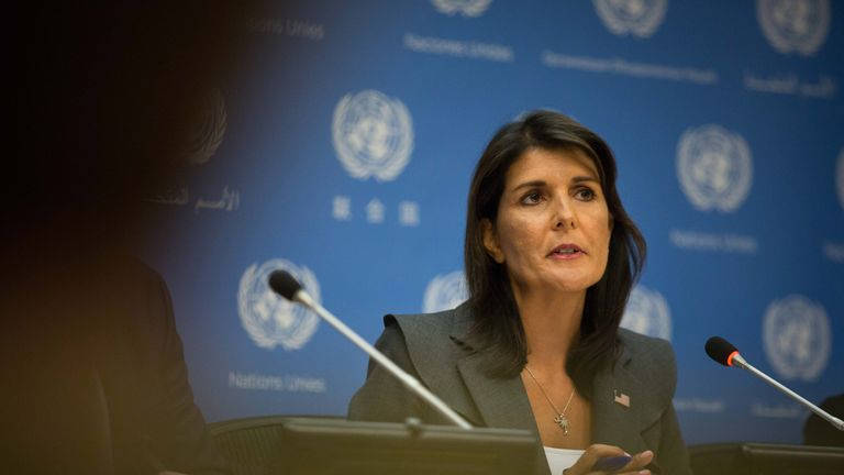 United Nations U.S. Ambassador Nikki Haley
