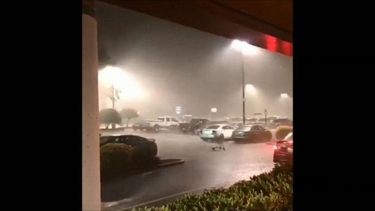 North Carolina hit by Hurricane Florence.