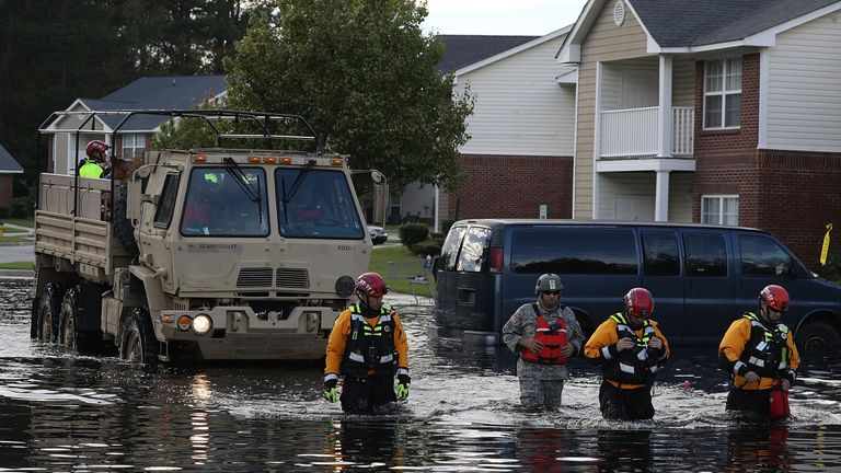 Search and Rescue teams are still rescuing people from homes in North Carolina