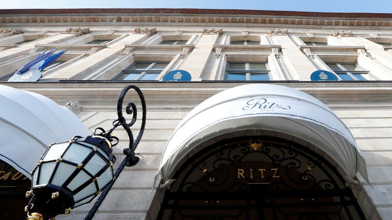 he luxury Ritz Paris hotel is pictured in the Place Vendome in Paris