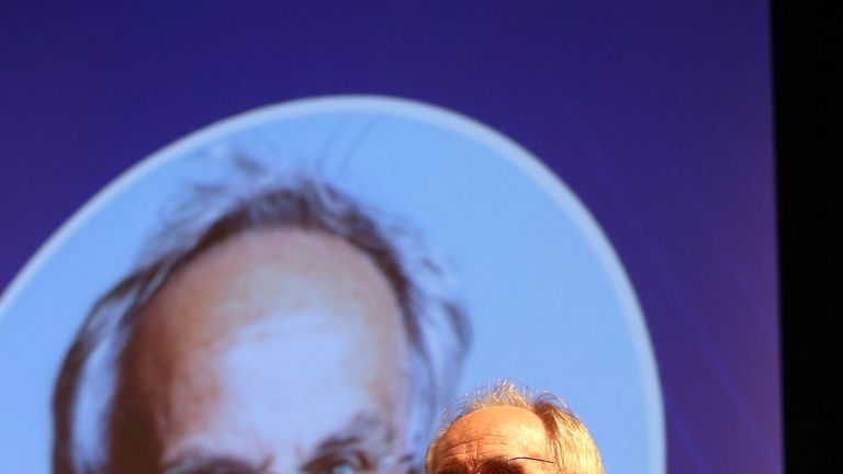 Peter Bone speaking at the Leave Means Leave Rally at the National Confernce Centre in Solihull as the Conservative Party annual conference, gets underway in Birmingham. PRESS ASSOCIATION Photo. Picture date: Sunday September 30, 2018. Photo credit should read: Aaron Chown/PA Wire