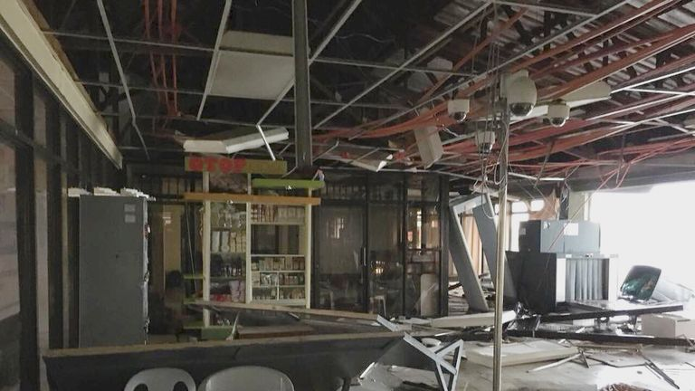 Tuguegarao Airport was badly damaged by the storm