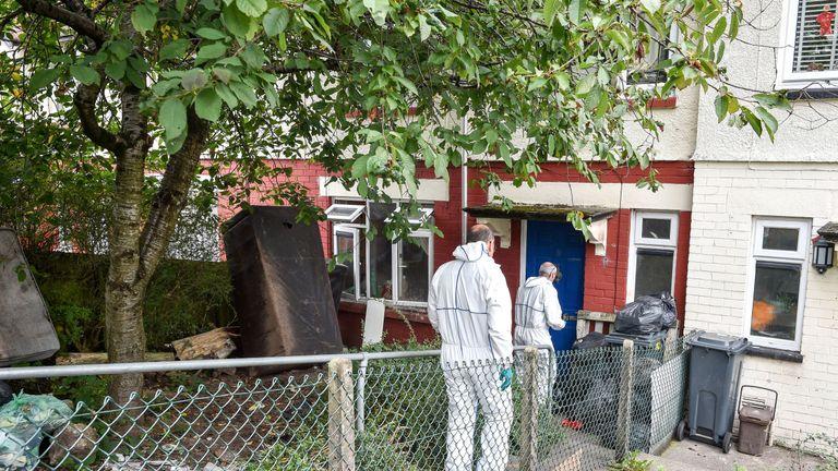 Explosive materials and terror manuals were found