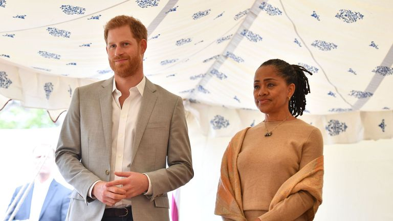 Meghan's husband and mother looked on proudly as she spoke passionately about the cookbook