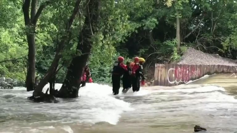Firefighters rescue boy's at creek in Indianapolis