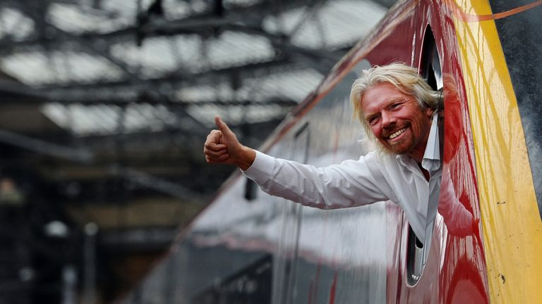 Richard Branson said his father had pulled him up about being on time