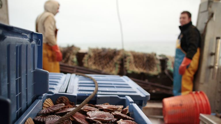 An industry accord allows small UK boats to continue fishing when the French cannot