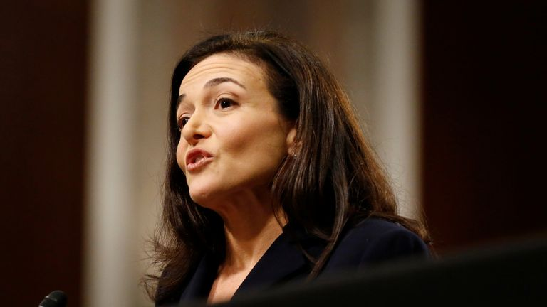 Facebook COO Sheryl Sandberg testifies before a Senate Intelligence Committee hearing on foreign influence operations on social media platforms on Capitol Hill in Washington, U.S., September 5, 2018. REUTERS/Joshua Roberts