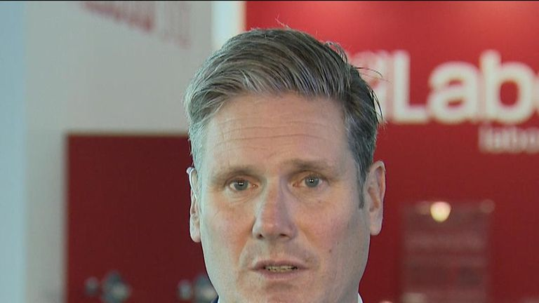 Sir Keir Starmer says Labour are not ruling out an option to vote to remain in the EU