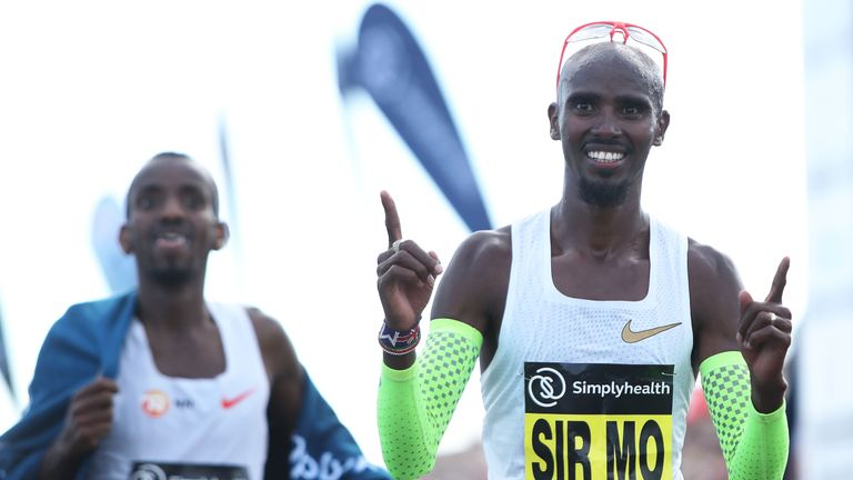 Sir Mo led the race from the start