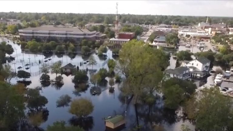 Waccamaw River floods in South Carolina