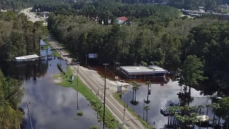 Parts of South Carolina remain under water after flooding