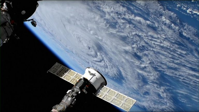 ISS shot of Hurricane Florence