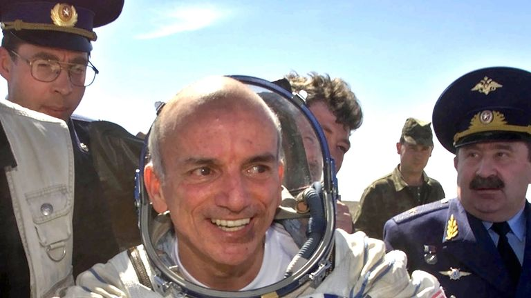 Dennis Tito paid to travel to the International Space Station in 2001